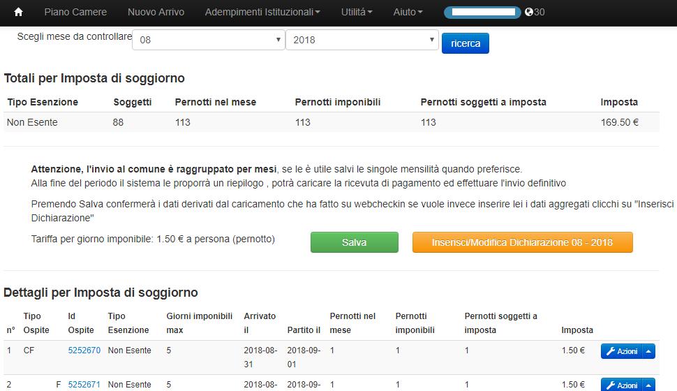 Pisa imposta di soggiorno webcheckin for Controllare il permesso di soggiorno